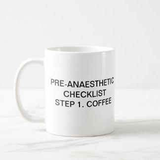 PRE-ANAESTHETIC CHECKLIST STEP 1 COFFEE MUG