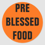 PRE BLESSED FOOD CLASSIC ROUND STICKER
