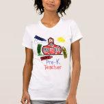 Pre camiseta del profesor de K - escuela y creyone