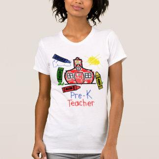Pre camiseta del profesor de K - escuela y