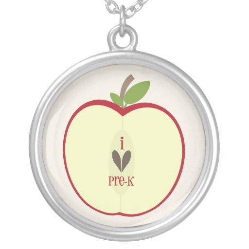 Pre collar del profesor de K - Apple rojo medio