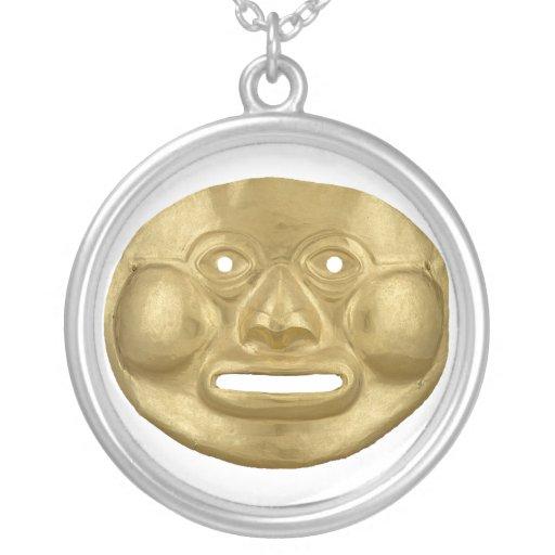 Pre-Colombian gold mask pendant Grimpolas