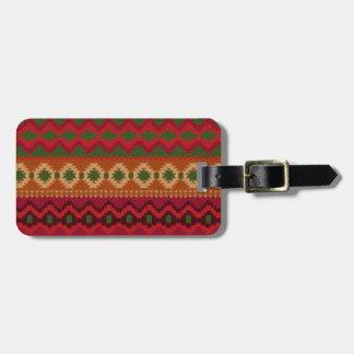 Pre-columbian America Aztec Inca Mayan Rug Theme Luggage Tag