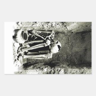 Pre-Columbian Grave site Skeleton Rectangular Sticker