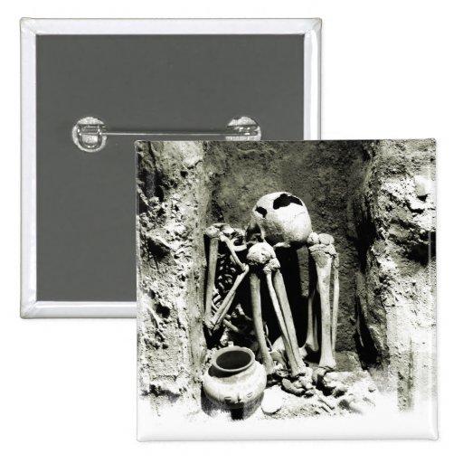 Pre-Columbian Gravesite Skeleton Pin
