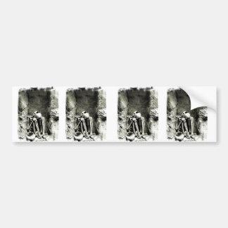 Pre-Columbian Gravesite Skeleton Car Bumper Sticker
