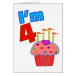 """Pre cumpleaños de la escuela """"soy 4"""" magdalena ado tarjetón"""