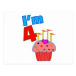 """Pre cumpleaños de la escuela """"soy 4"""" magdalena ado tarjeta postal"""