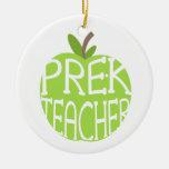 Pre el verde Apple del profesor de K adorna Ornamento Para Reyes Magos