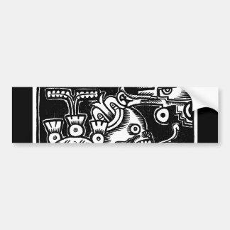 Pre-Hispanic Aztec Style Painting c. 1925 Bumper Sticker