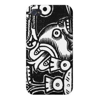 Pre-Hispanic Aztec Style Painting c. 1925 iPhone 4/4S Cover
