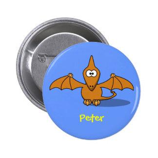 Pre-historc pterodactyl 2 inch round button