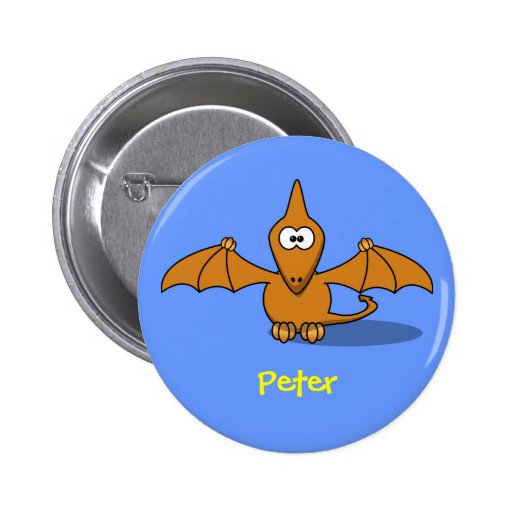 Pre-historc pterodactyl pinback buttons