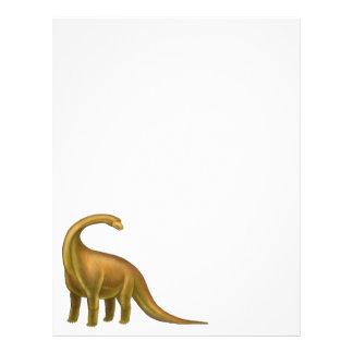 Pre-Historic Brachiosaurus Dinosaur Letterhead