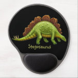 "Pre-Historic Stegosaurus Dinosaur Gel Mousepad<br><div class=""desc"">Original fine art design of a green Pre-Historic Stegosaurus dinosaur by scientific artist and designer Carolyn McFann of TPC Studio printed on a quality and easily customizable gel computer mousepad for paleontology fans from children to adults.</div>"