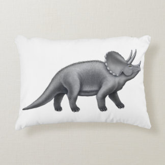 Pre-Historic Triceratops Dinosaur Pillow Accent Pillow