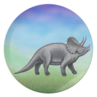 Pre-Historic Triceratops Dinosaur Plate