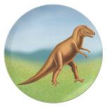 Pre-Historic Tyrannosaurus Rex Dinosaur Plate