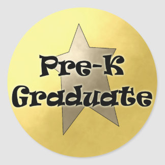 Pre-K Graduation Gifts Classic Round Sticker