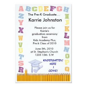 pre k graduation invitations zazzle