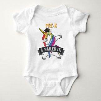 PRE K Nailed It Unicorn Dabbing Graduation Baby Bodysuit