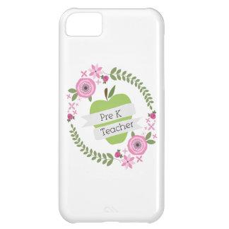 Pre K Teacher Floral Wreath Green Apple Cover For iPhone 5C