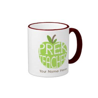 Pre K Teacher Green Apple Mug