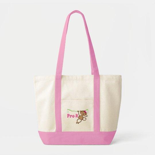 Pre-k Teacher Monkey Gift Tote Bag