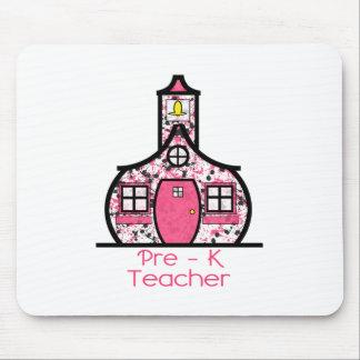 Pre K Teacher Paint Splatter Schoolhouse Mouse Pad