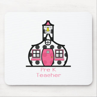 Pre K Teacher Polka Dot Schoolhouse Mouse Pad