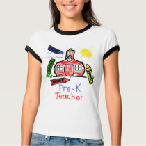 Pre K Teacher T Shirt - Schoolhouse & Crayons