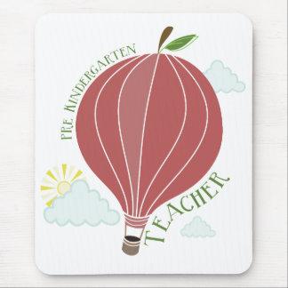 Pre Kindergarten Teacher Hot Air Balloon Apple Mouse Pads