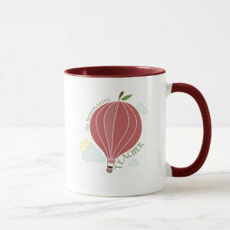 Pre Kindergarten Teacher Hot Air Balloon Apple Mug