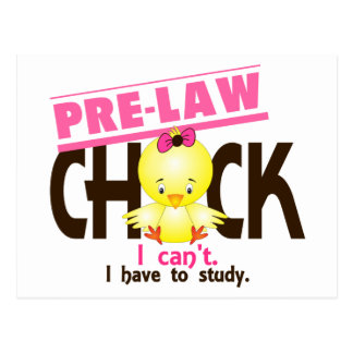 Pre-Law Chick 1 Post Cards