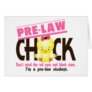 Pre-Law Chick 2 Greeting Card