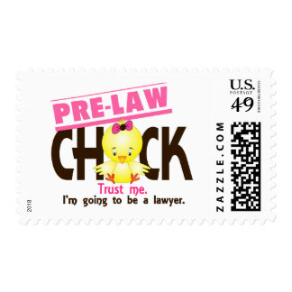 Pre-Law Chick 3 Postage Stamp