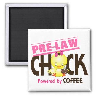 Pre-Law Chick 4 2 Inch Square Magnet