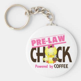 Pre-Law Chick 4 Basic Round Button Keychain