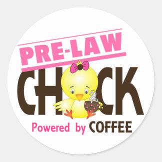Pre-Law Chick 4 Classic Round Sticker