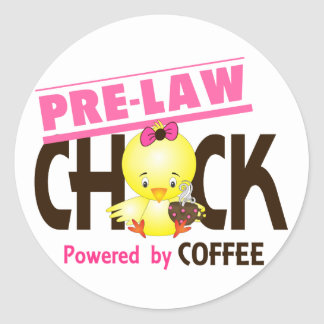 Pre-Law Chick 4 Round Stickers