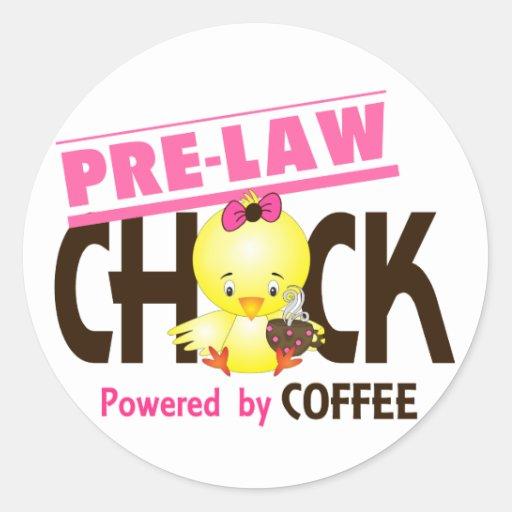Pre-Law Chick 4 Round Stickers