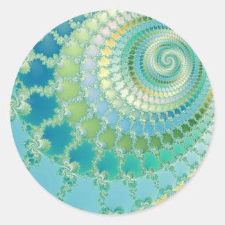 Pre Life - Fractal Classic Round Sticker