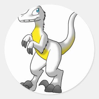 Pre Made Velociraptor - Fried Egg w/ Extras Classic Round Sticker