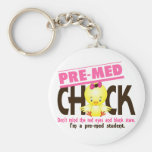 Pre-Med Chick 2 Key Chains