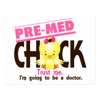 Pre-Med Chick 3 Postcard