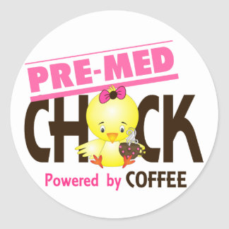 Pre-Med Chick 4 Classic Round Sticker