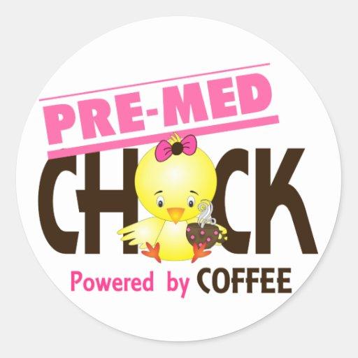 Pre-Med Chick 4 Sticker