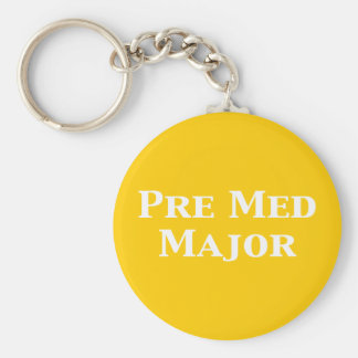 Pre Med Major Gifts Basic Round Button Keychain