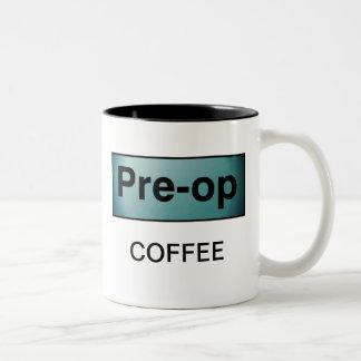 PRE-OP COFFEE Two-Tone COFFEE MUG