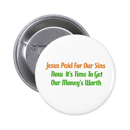 Pre-Paid Sin Pinback Buttons
